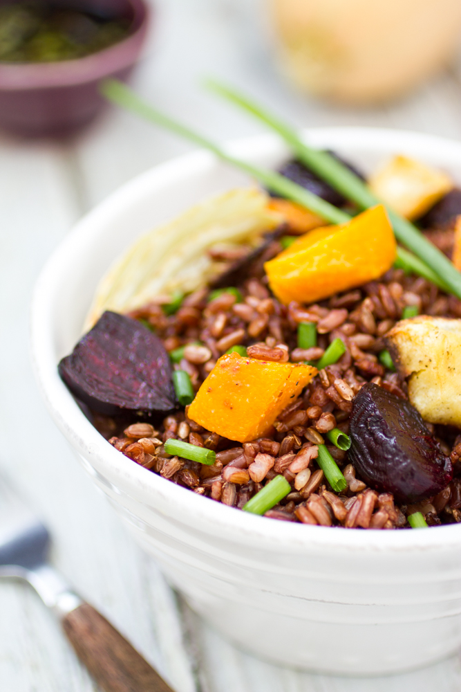 Thai Rice with Roasted Vegetables