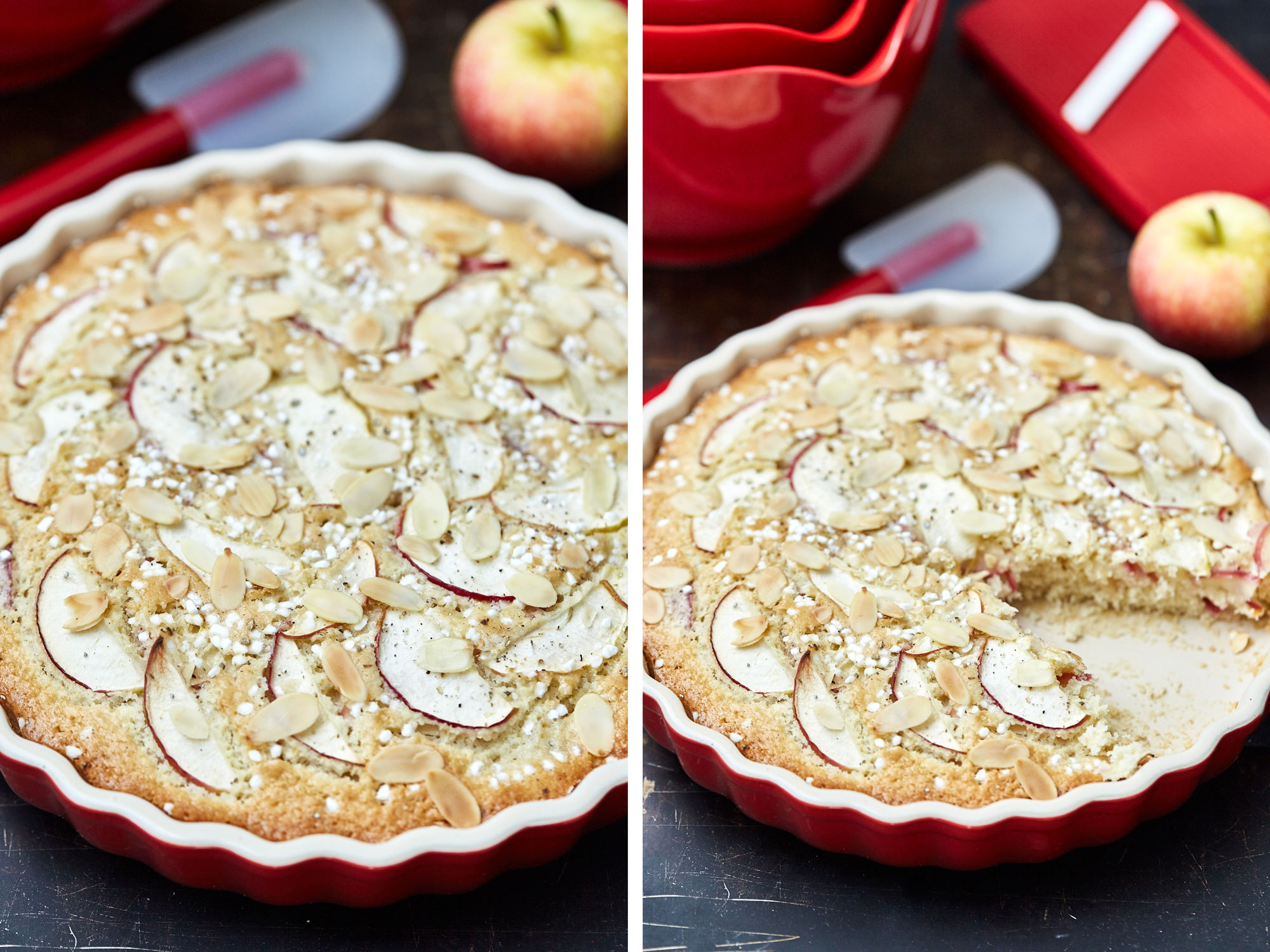 Apple Cake Made With Sliced Apple Inside It